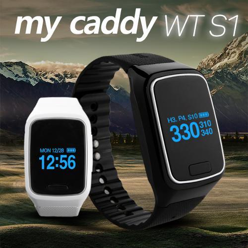 골핑특가/마이캐디 시계형 신상품 WT-S1 GPS 거리측정기/슬로프(고도차)/어프로치/퍼팅거리