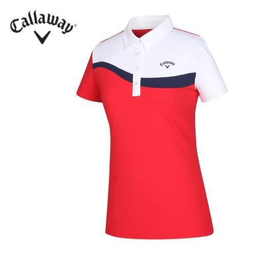 [캘러웨이]16SS 리우컬렉션 여성 사선 컬러 티셔츠