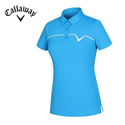 [캘러웨이]16SS 리우컬렉션 여성 가슴 로고 티셔츠