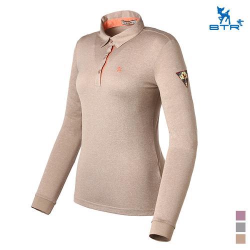 [BTR] 멜란지 컬러 카라 긴팔 티셔츠 노잉(여) BMT0405W