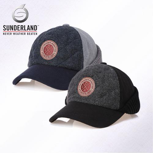 [Sunderland Of Scotland] 선덜랜드 남성 겨울 방한 울 니트소재 쉬보리 목가리개 귀마개 모자- 16641CP12