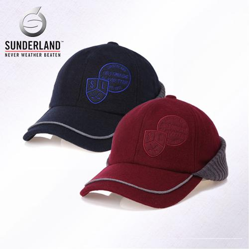 [Sunderland Of Scotland] 선덜랜드 남성 겨울 방한 울 니트소재 쉬보리 목가리개 귀마개 모자- 16641CP11