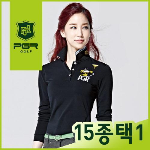 [2016년 신상품 초특가 세일] PGR GOLF 여성 최고급 국내생산 패턴포인트 기능성 카라 긴팔티셔츠 15종 택1