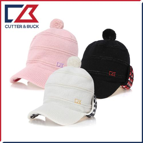 커터앤벅 여성 겨울 방한 울 니트소재 러블리 방울 귀마개 모자 - 1464-214-31