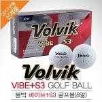 [2017년신제품]VOLVIK 볼빅골프正品 VIBE + S3 3피스 골프볼(8알)