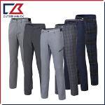 커터앤벅 남성 최고급 겨울 방한 노턱 스판소재 패턴포인트 기모 골프팬츠 4종 택1
