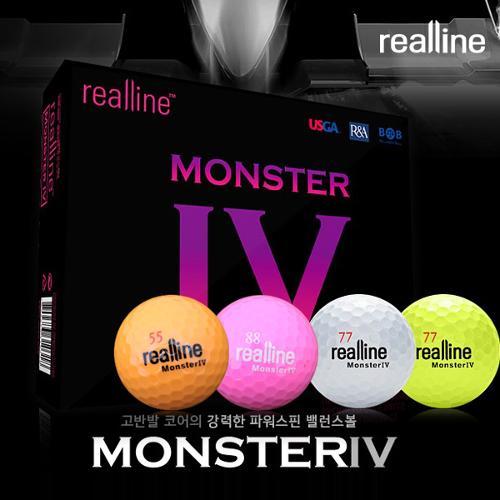 리얼라인 골프공 MONSTER-4 몬스터4 골프공(6알/장타용)/골프용품/골프볼