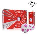 캘러웨이 크롬 소프트 트루비스 골프공 4피스 핑크볼 칼라볼 골프볼 Callaway Chrome Soft Truvis Pink