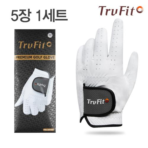 [TRUFIT](5장 1세트) 트루핏 프리미엄양피 남성용 골프장갑 FULL LEATHER/골프용품