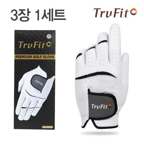 [TRUFIT](3장 1세트) 트루핏 고급양피 남성용 골프장갑 VENT LEATHER/골프용품