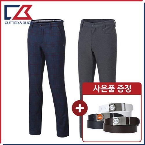 커터앤벅 남성 기모 본딩 골프바지 2종 택1 + 패딩 방풍니트 점퍼/자켓 - 2장 1세트