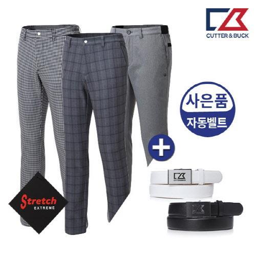 커터앤벅 남성 허리 밴딩 기모 골프바지 2종 택1 (사은품 벨트 증정)