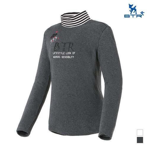 [BTR] 안감기모 하이넥 스트라이프 티셔츠(여) BNT0417W