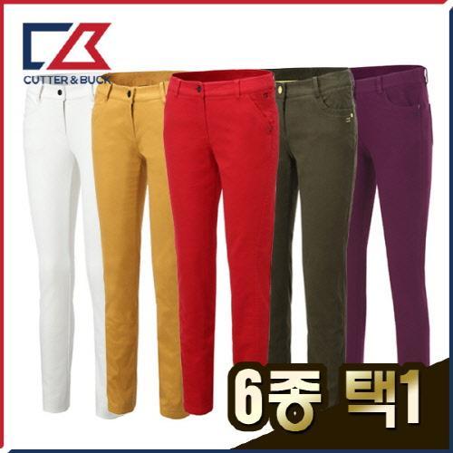 커터앤벅 여성 겨울 방한 대한민국 생산 스판 기모소재 골프바지/팬츠 6종 택1