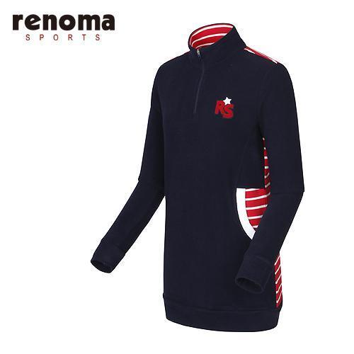 [레노마골프]여성 배색 스트라이프 반집업 티셔츠 RWTHF8111-120