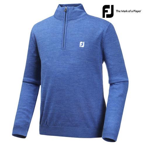 [풋조이] 하프집 스웨터 블루(27184)_GA