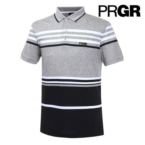 [PRGR] 프로기어 컬러블럭 스트라이프 피케 티셔츠 P15MT1-030_GA