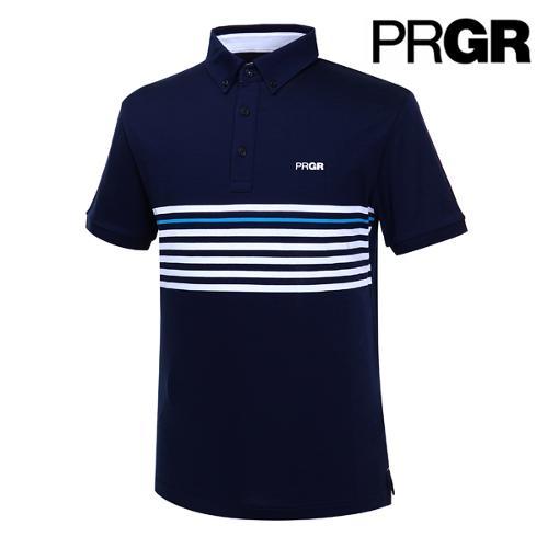 [PRGR] 프로기어 스트라이프 피케 티셔츠 P15MT1-025_GA