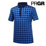 [PRGR] 프로기어 고방체크 피케 티셔츠 P15MT1-019_GA