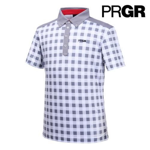 [PRGR] 프로기어 고방체크 피케 티셔츠 P15MT1-018_GA