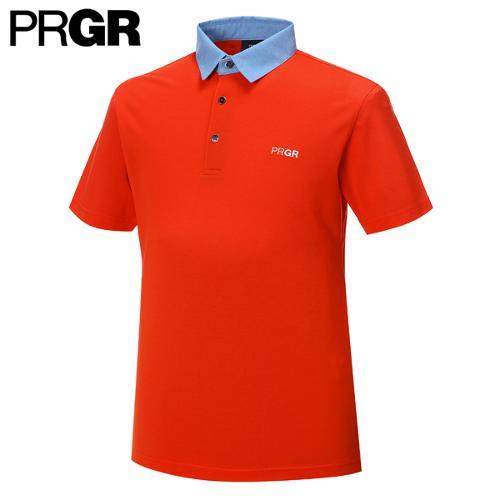 [PRGR] 프로기어 카라 배색 티셔츠 P15MT1-033_GA