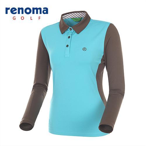 [레노마골프]여성 소매 배색 제에리 티셔츠 RATS52441-MT