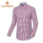 [올포유]남성 베이직 콤비 체크 셔츠 AMBSE1671-500