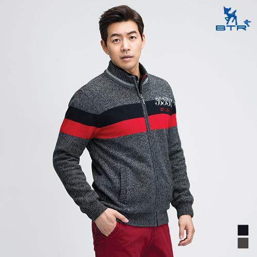 [BTR] 배색 풀집업 니트 롤랑(남) BNW0552M