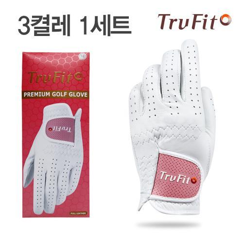 [마켓][TRUFIT](3장 1세트) 트루핏 고급양피 여성용 골프장갑 full leather/골프용품