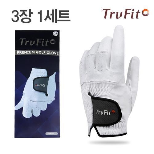 [마켓][TRUFIT](3장 1세트) 트루핏 고급합피 남성용 골프장갑 VENTOCL/골프용품