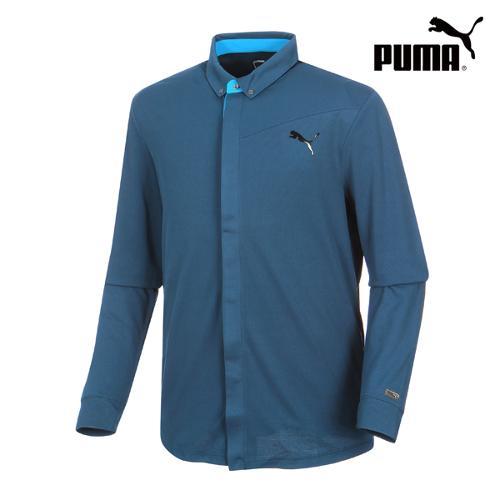[푸마골프] 남성 Lux LS Polo 셔츠 566699-01_GA