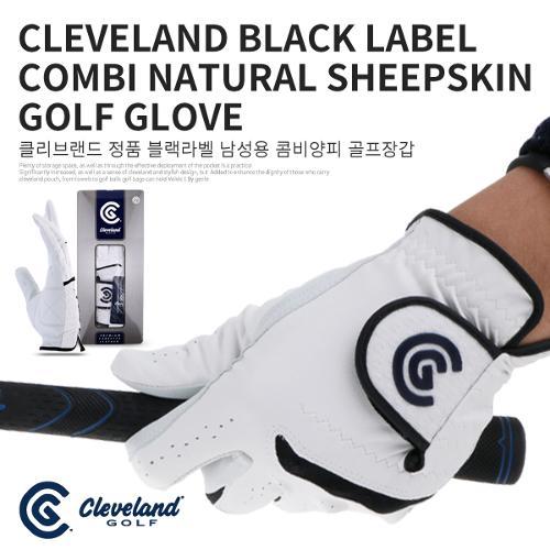 [CLEVELAND] 클리브랜드 정품 블랙라벨 콤비양피 골프장갑