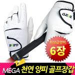 [바로골프]MEGA 천연양피 6장 구성 골프장갑 라이크라 스판덱스