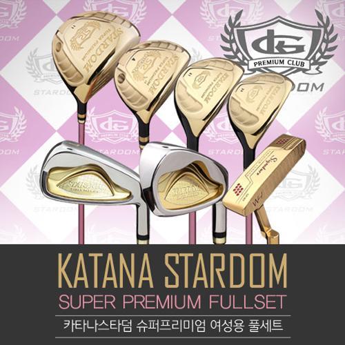 [골핑단독!-비공인고반발]카타나 타미스포츠正品 STARDOM ROYAL PREMIUM 스타덤 로얄 프리미엄 여성용 풀세트(12PCS)+캐디백세트