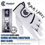 [클리브랜드] 정품 블랙라벨 남성용 콤비양피 골프장갑