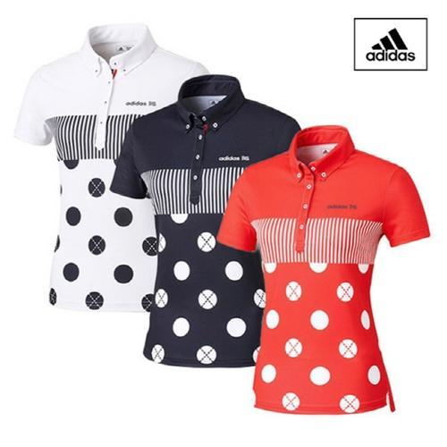 ADIDAS 아디다스 클라이마라이트 팀 도트 패턴 여성 반팔 폴로 AE5977 AE5978 AE5979 골프의류 골프용품