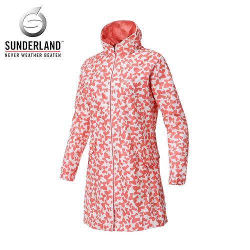 [시즌특가]선덜랜드 여성 완벽방수 심실링처리 리본 후드 레인코트/사파리비옷- 16712RC61