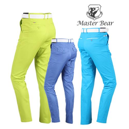 MASTER BEAR 남성 허리자동조절 컬러 골프바지