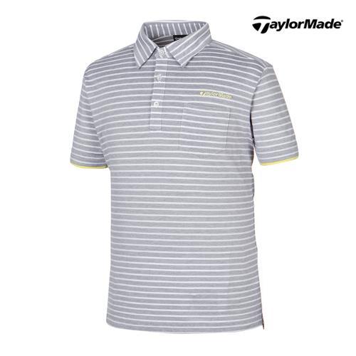 [테일러메이드] 남성 스트라이프 카라넥 반팔 티셔츠 B16679_GA