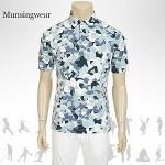 [일본수입정품] SG1801 먼싱웨어 블럭 남성 반팔티셔츠