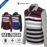 [MASTER BEAR] 마스터베어 베이직 면 스트라이프 카라셔츠 Model No_M1-7B024