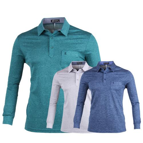 루센 카치온 프리미엄 롱슬리브 골프 티셔츠 LU7S405
