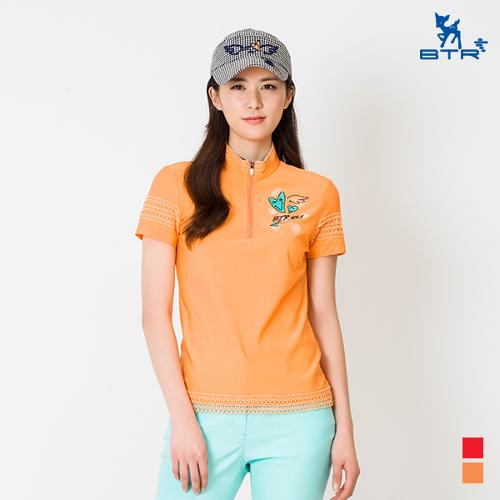 ★신상 추가인하★[BTR] 소매 레이스 집업 반팔티셔츠 스칼렉(여) BOT4865W