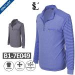 [JEAN PIERRE] 쟌피엘 체스트포인트 하프집업 셔츠 Model No_B1-7E049