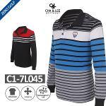 [C&L] 차앤리 스트라이프 로고 셔츠 Model No_C1-7L045