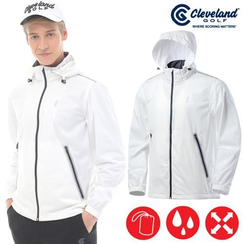 [클리브랜드] 파워스트레치 방수/심실링 남성 비옷자켓 겸용 바람막이 점퍼_CG196179-WH