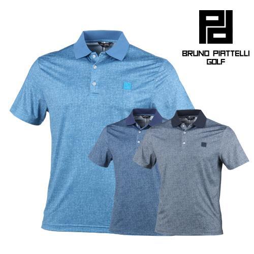 브르노피아텔리 데님 프린팅 카치온 골프 티셔츠 BP7MMTS002
