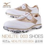[2017년신제품]한국미즈노正品 NEXLITE 003 BOA 보아 여성용 골프화+미즈노신발주머니
