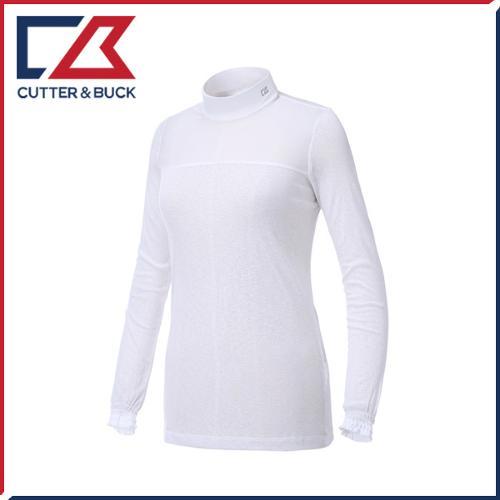 커터앤벅 여성 스판소재 셔링포인트 목폴라 기능성티셔츠 - PB-11-162-201-02