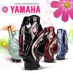 야마하골프 정품 Y15CBL 자수 무늬 여성용 바퀴형 캐디백